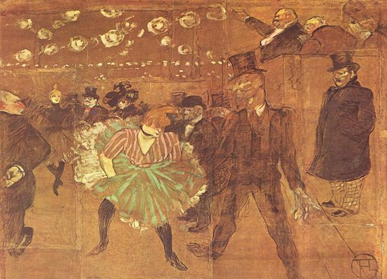 Painting of cabaret dancer by Henri de Toulouse-Lautrec