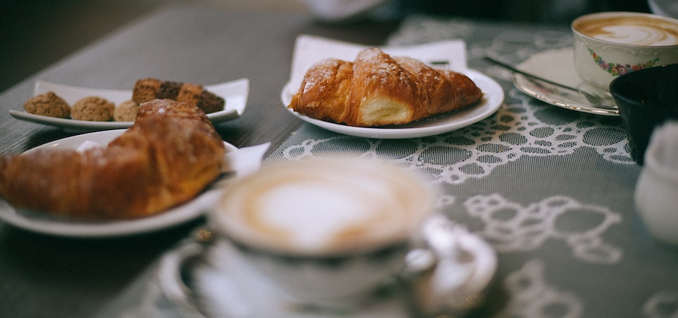 Coffee with croissants