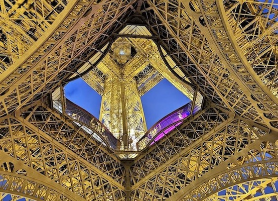 Interior of the Eiffel Tower