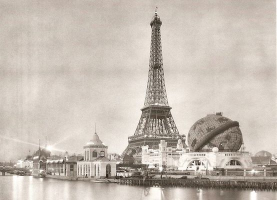 Photo of the Eiffel Tower at the 1889 Universal Exposition