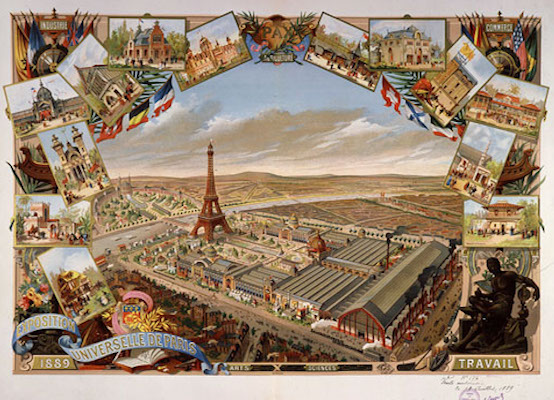 Poster for the 1889 Universal Exposition