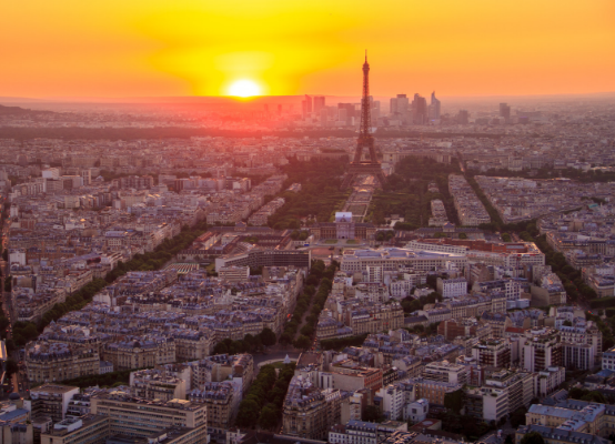 eiffel tower view sunset montparnasse