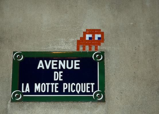 Invader mural, Paris