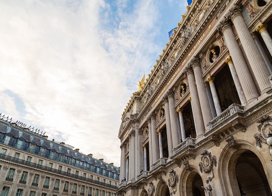 Facade of the Palais Garnier