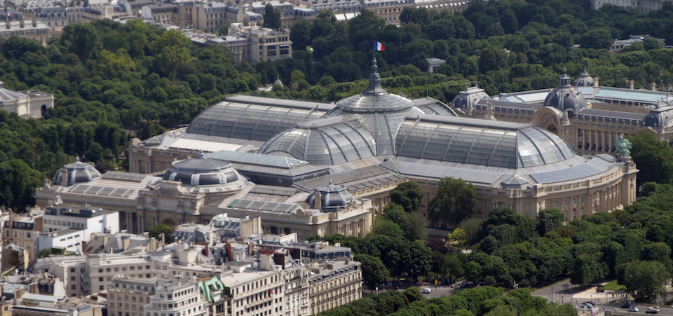 Aerial view of the Grand and Petit Palais