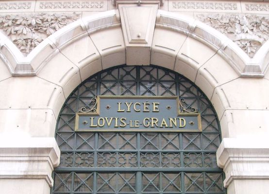 Entrance to Lycée Louis-Le-Grand