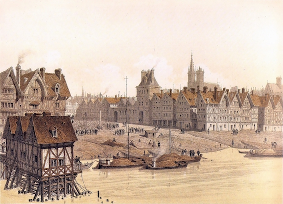 Drawing of Paris in 1583