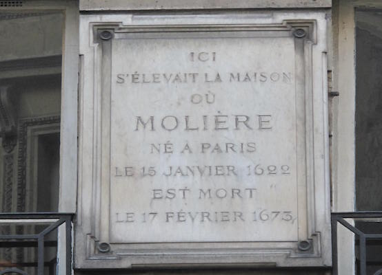 The second plaque claiming to mark Molière's birthplace