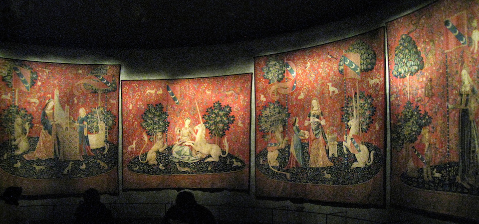 Unicorn tapestries at the Musee de Cluny