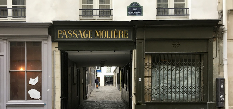 Entryway to the Passage Molière