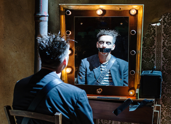 Tape Face contemporary mime act