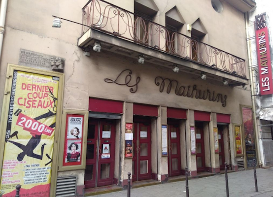Exterior of Theatre des Mathurins