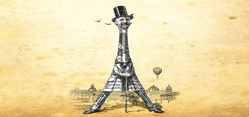 image of gustave eiffel as the eiffel tower