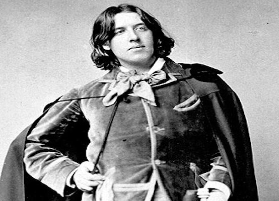 Oscar Wilde during his travels to the USA