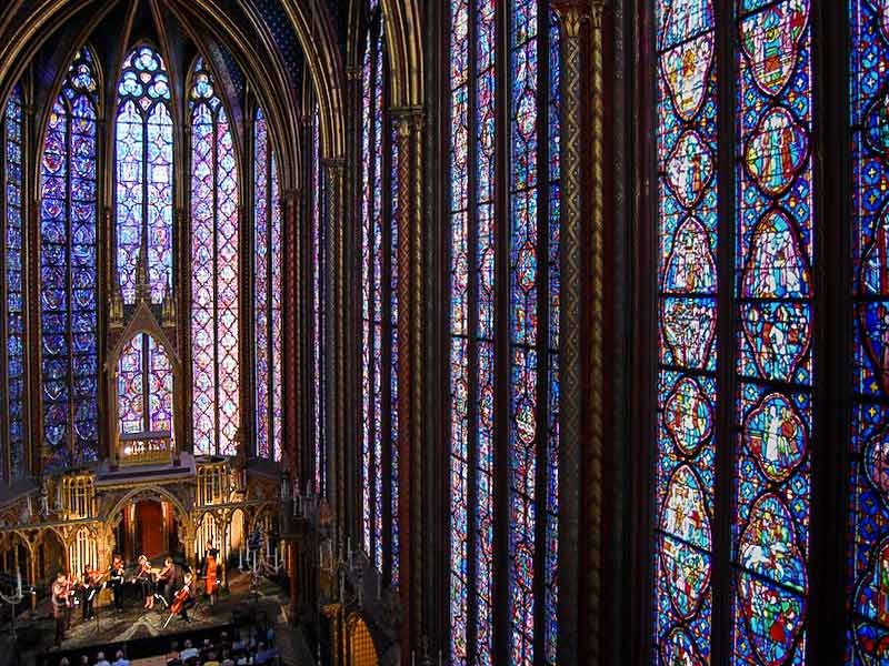 Interior of the Sainte-Chapelle
