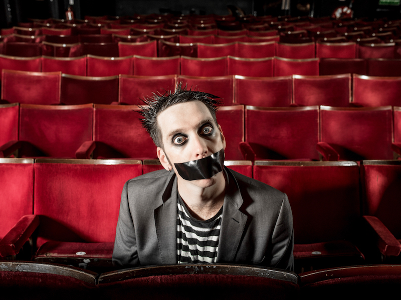Tape Face in the theatre