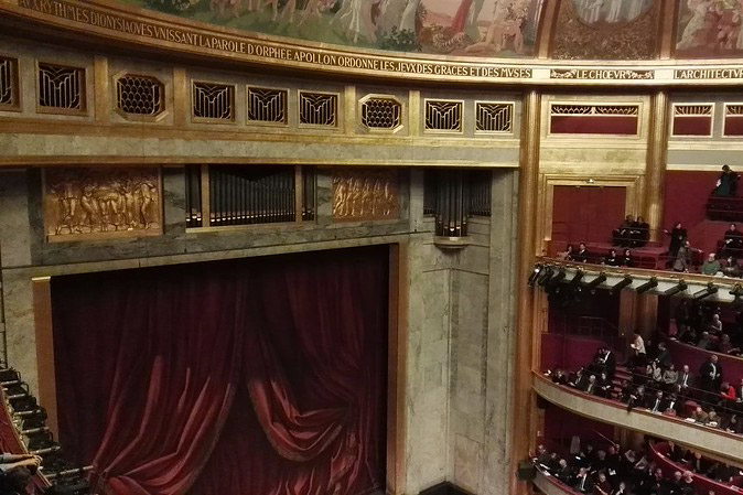 Theatre des Champs Élysees view from seats